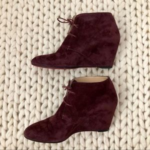 Christian Louboutin Shoes - Louboutin Compacta Lace-Up Boots in Plum Suede
